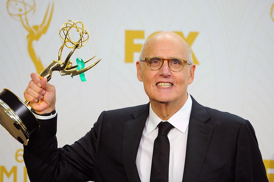 Jeffrey Tambor backstage at the 67th Emmy Awards.