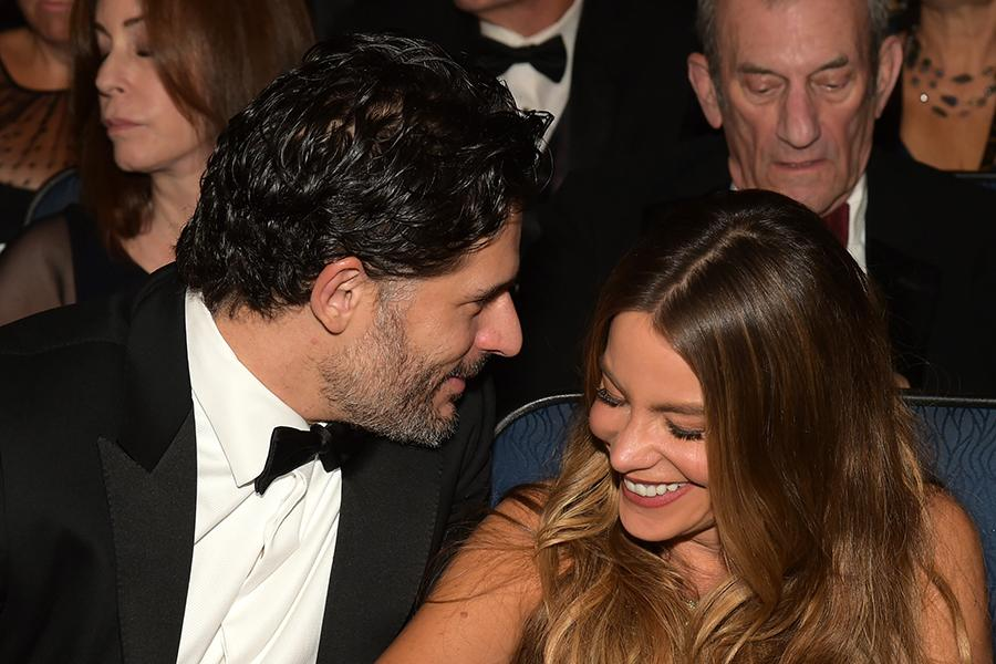 Joe Manganiello and Sofia Vergara at the 67th Emmy Awards.