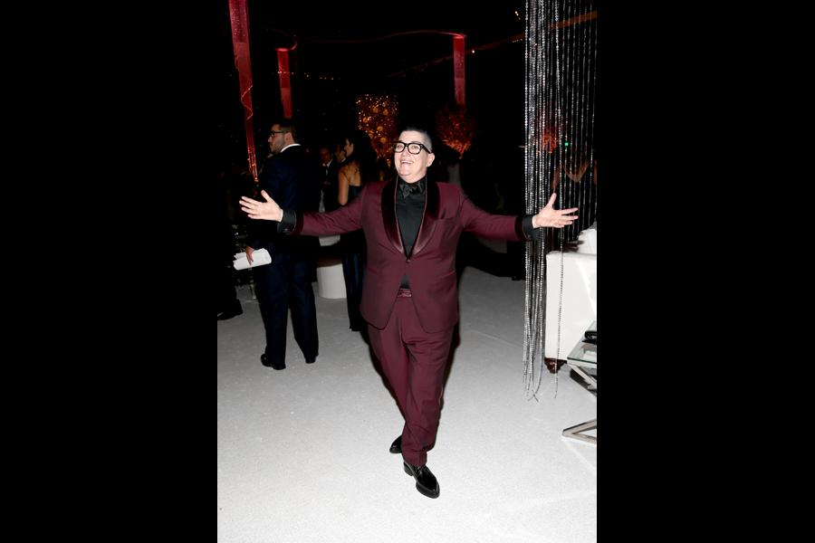 Lea DeLaria at the 67th Emmys Governors Ball.