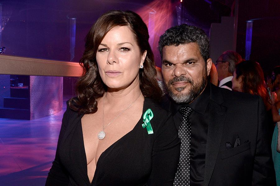 Marcia Gay Harden and Luis Guzman at the 67th Emmys Governors Ball.