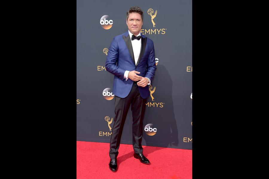 Louis Aguirre on the red carpet at the 2016 Primetime Emmys.