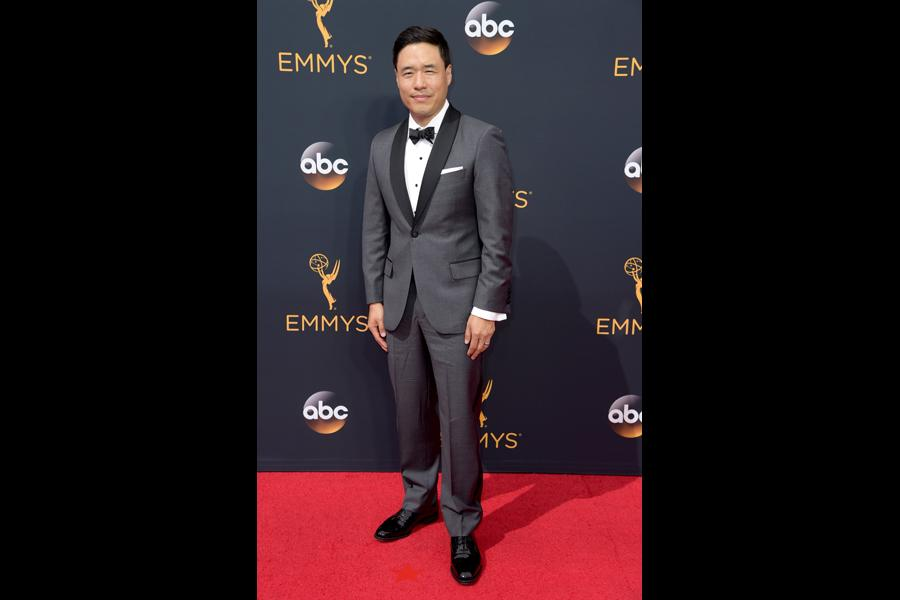 Randall Park on the red carpet at the 2016 Primetime Emmys.