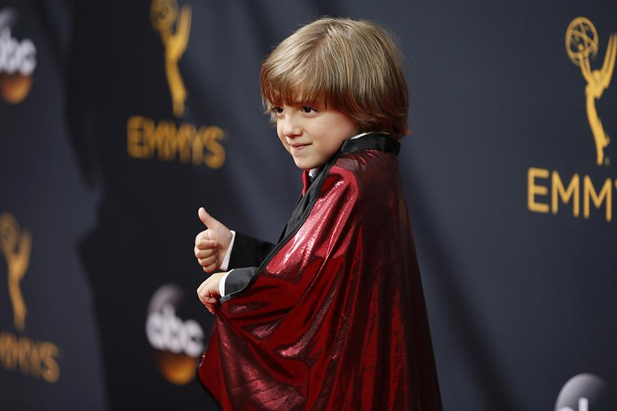 Jeremy Maguire on the red carpet at the 2016 Primetime Emmys.