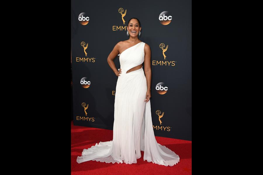 Tracee Ellis Ross on the red carpet at the 2016 Primetime Emmys.