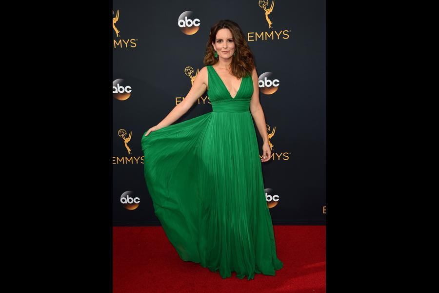 Tina Fey on the red carpet at the 2016 Primetime Emmys.