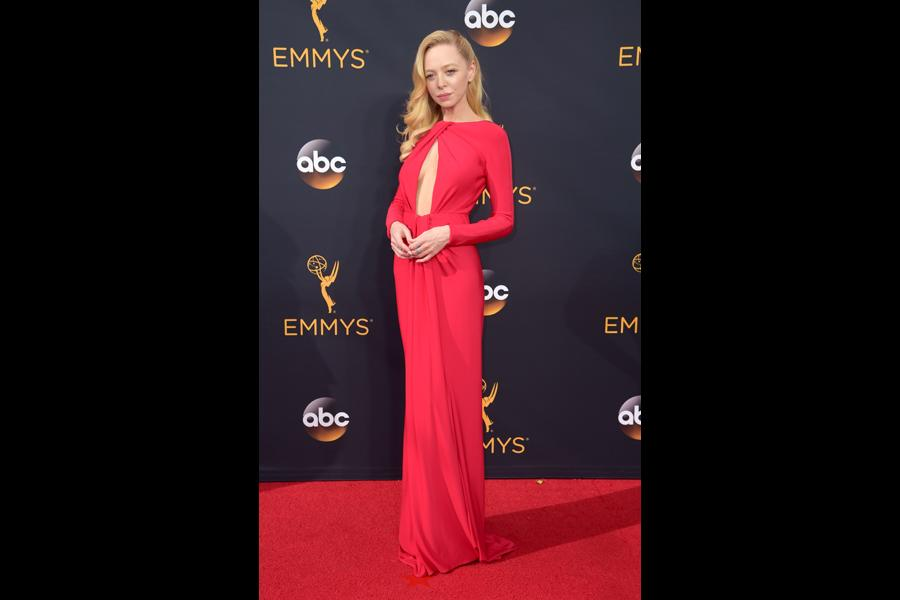 Portia Doubleday on the red carpet at the 2016 Primetime Emmys.