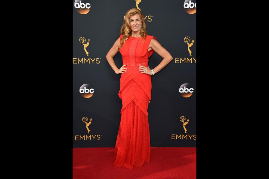 Connie Britton on the red carpet at the 2016 Primetime Emmys.