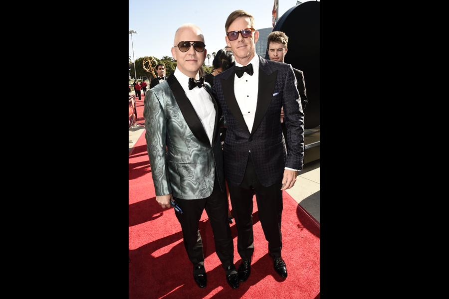 Ryan Murphy and David Miller on the red carpet at the 2016 Primetime Emmys.