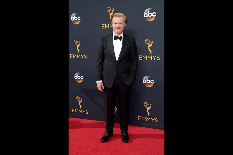 Jesse Plemons on the red carpet at the 2016 Primetime Emmys.