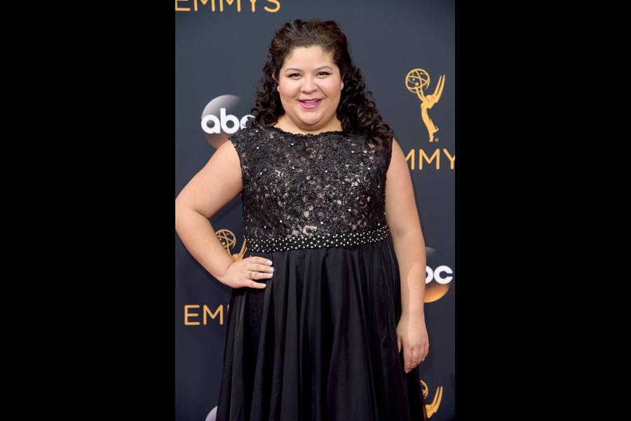 Raini Rodriguez on the red carpet at the 2016 Primetime Emmys.