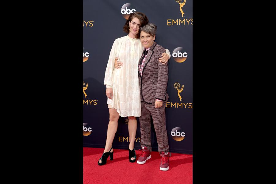 Gaby Hoffmann and Jill Soloway on the red carpet at the 2016 Primetime Emmys.