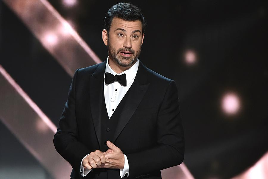 Host Jimmy Kimmel on stage at the 2016 Primetime Emmys.