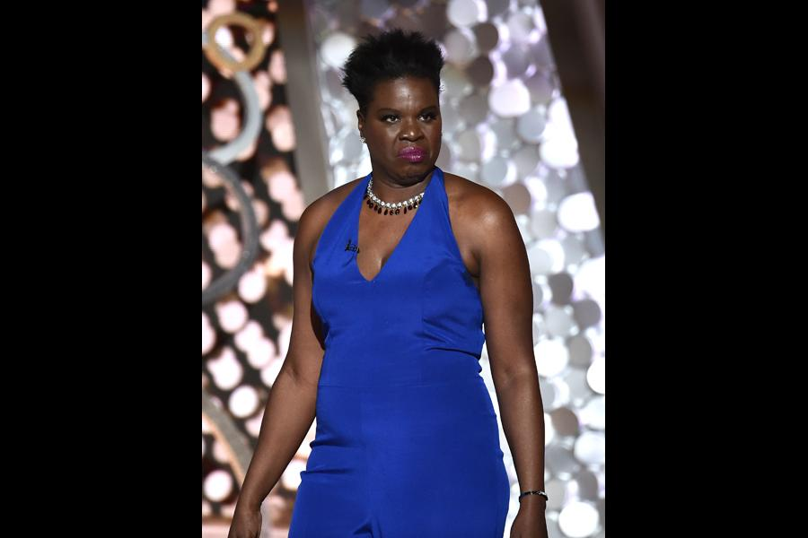 Leslie Jones on stage at the 68th Primetime Emmy Awards.