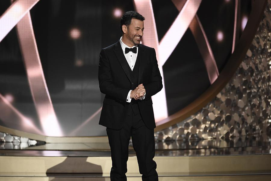 Jimmy Kimmel on stage at the 2016 Primetime Emmys.
