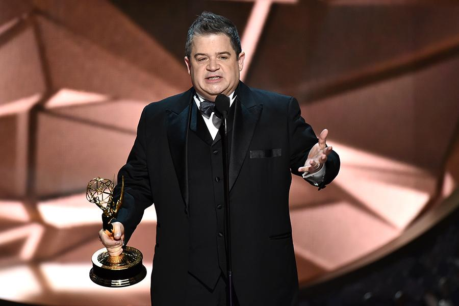 Patton Oswalt accepts his award at the 2016 Primetime Emmys.