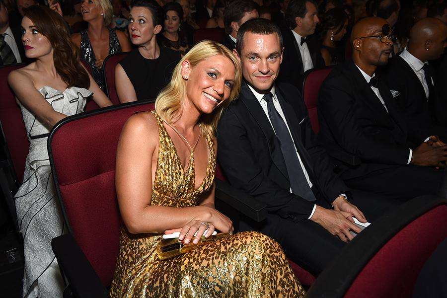 Claire Danes and Hugh Dancy at the 2016 Primetime Emmys.