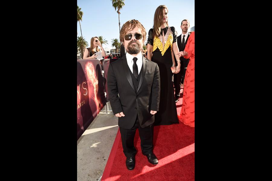 Peter Dinklage on the red carpet at the 2016 Primetime Emmys.