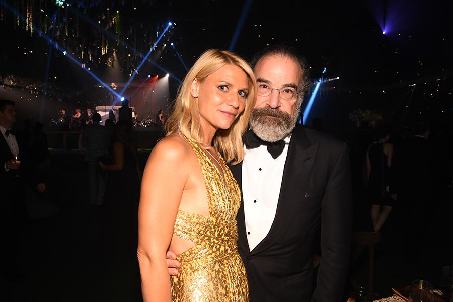 Claire Danes and Mandy Patinkin at the 68th Emmys Governors Ball.