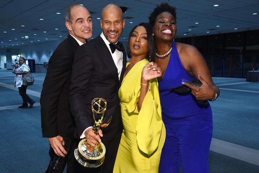 Michael Kelly, Keegan Michael-Key, Angela Bassett, and Leslie Jones at the 68th Emmys Governors Ball.