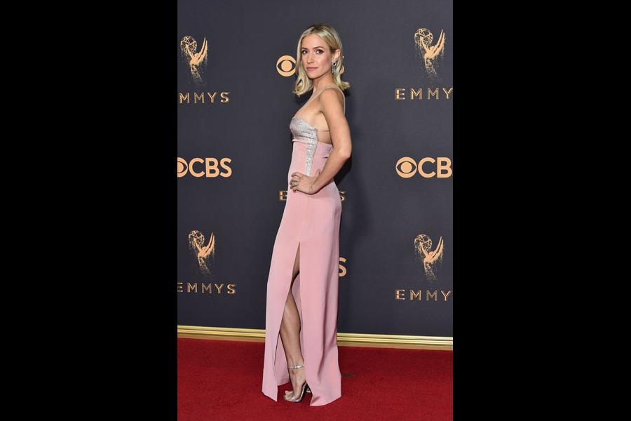 Kristin Cavallari on the red carpet at the 2017 Primetime Emmys.