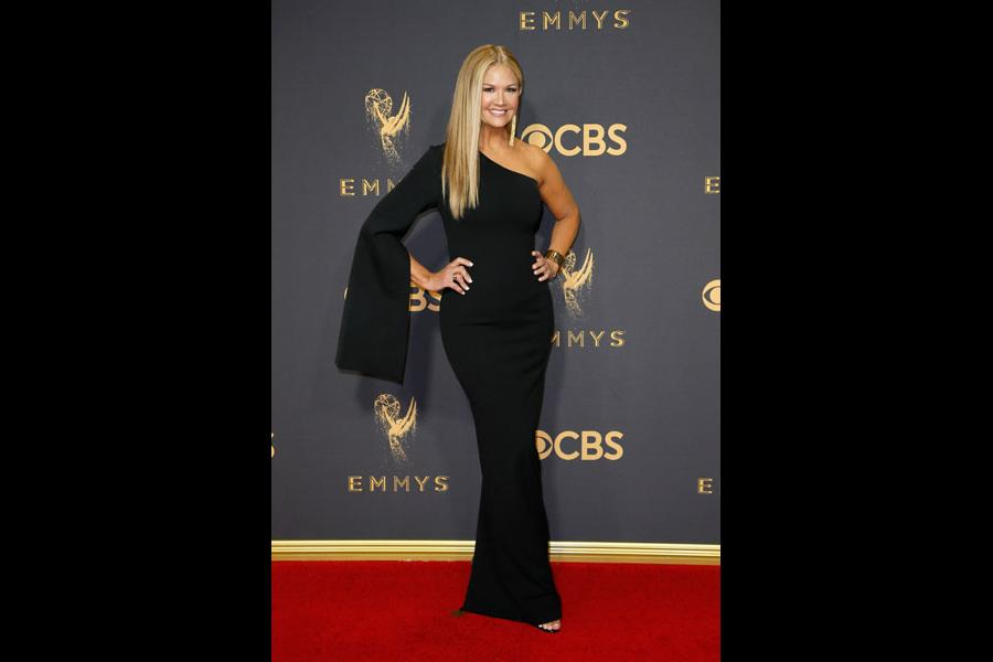 Nancy ODell on the red carpet at the 2017 Primetime Emmys.