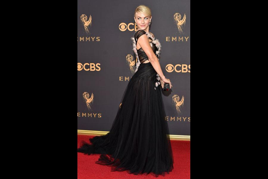 Julianne Hough on the red carpet at the 2017 Primetime Emmys.