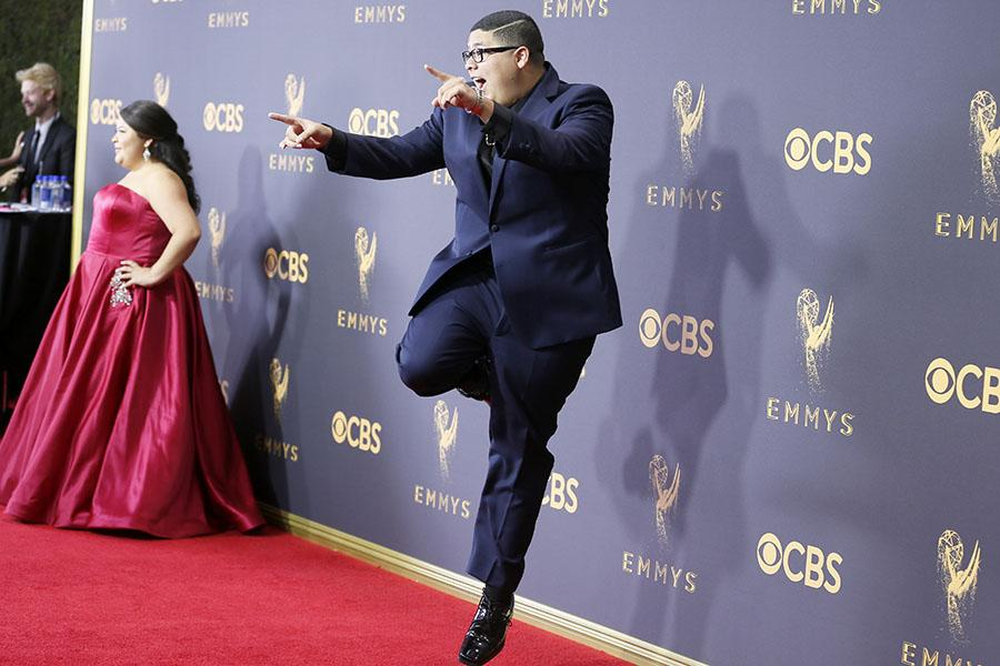 Rico Rodriguez on the red carpet at the 2017 Primetime Emmys.