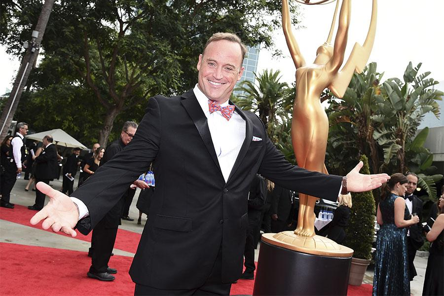 Matt Iseman on the red carpet at the 2017 Primetime Emmys.