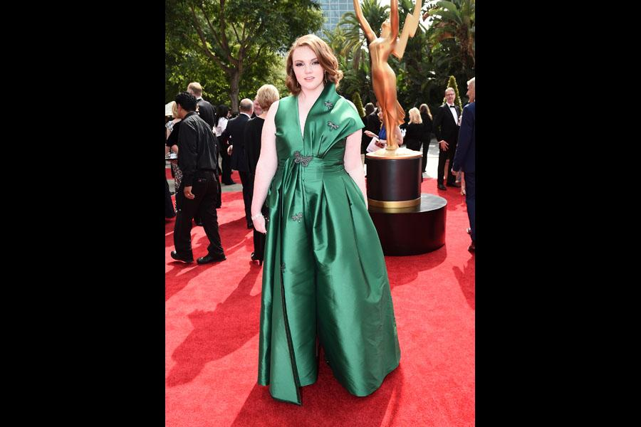 Shannon Purser on the red carpet at the 69th Primetime Emmy Awards