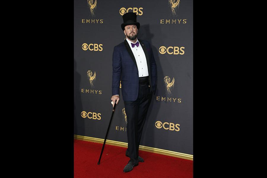 Chris Sullivan on the red carpet at the 69th Primetime Emmy Awards