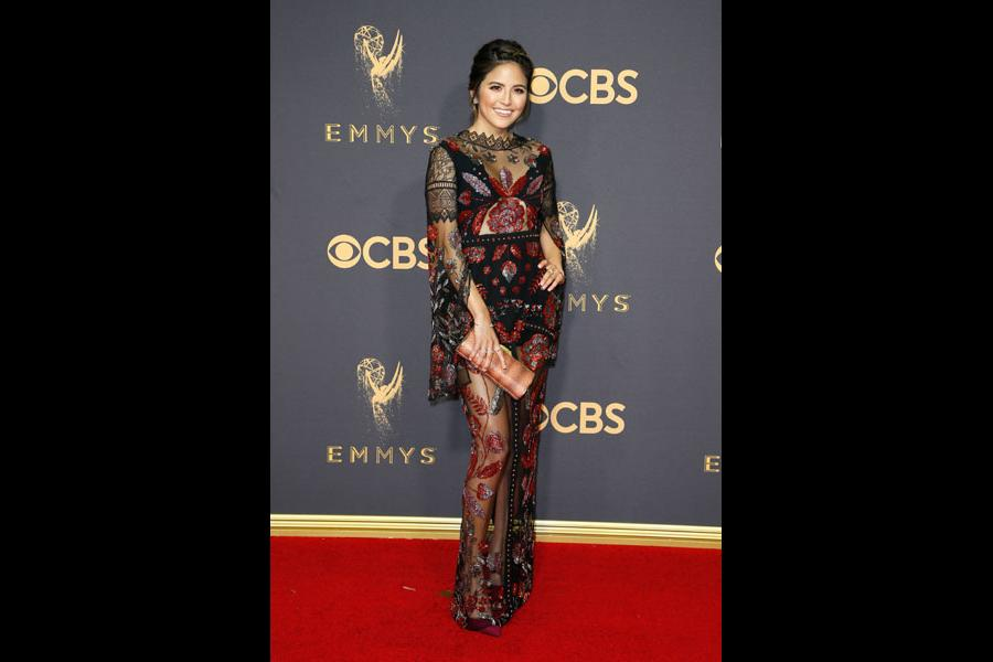 Erin Lim on the red carpet at the 69th Primetime Emmy Awards
