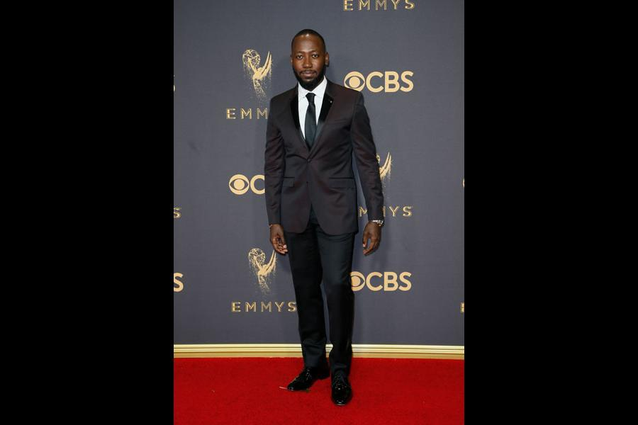 Lamorne Morris on the red carpet at the 69th Primetime Emmy Awards
