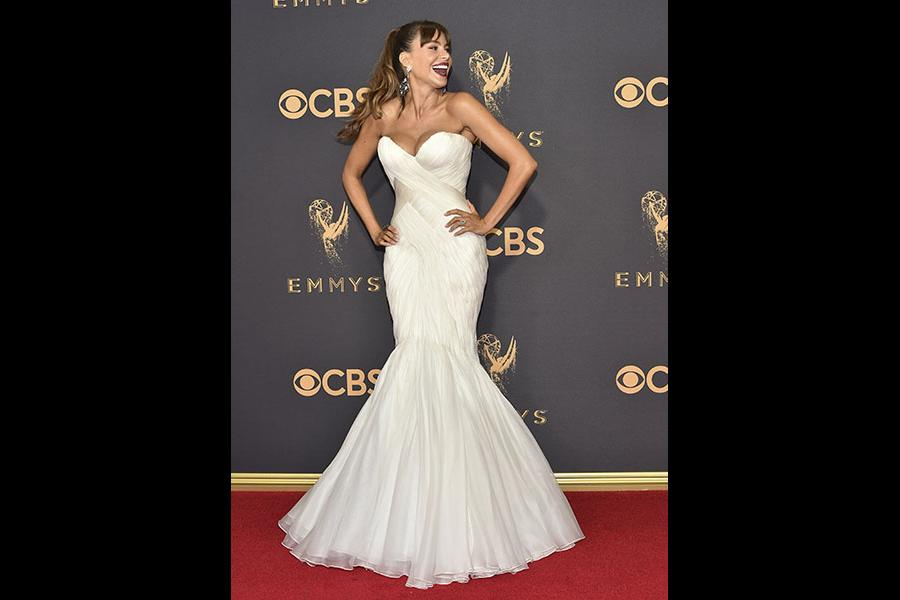 Sofia Vergara on the red carpet at the 2017 Primetime Emmys.