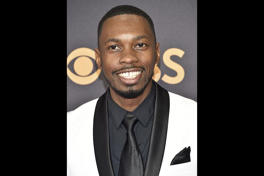 Melvin Jackson Jr. on the red carpet at the 69th Primetime Emmy Awards