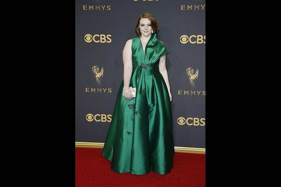 Shannon Purser on the red carpet at the 2017 Primetime Emmys.