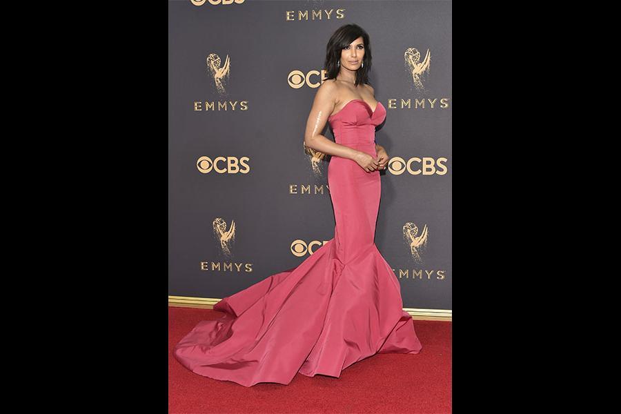 Padma Lakshmi on the red carpet at the 69th Primetime Emmy Awards