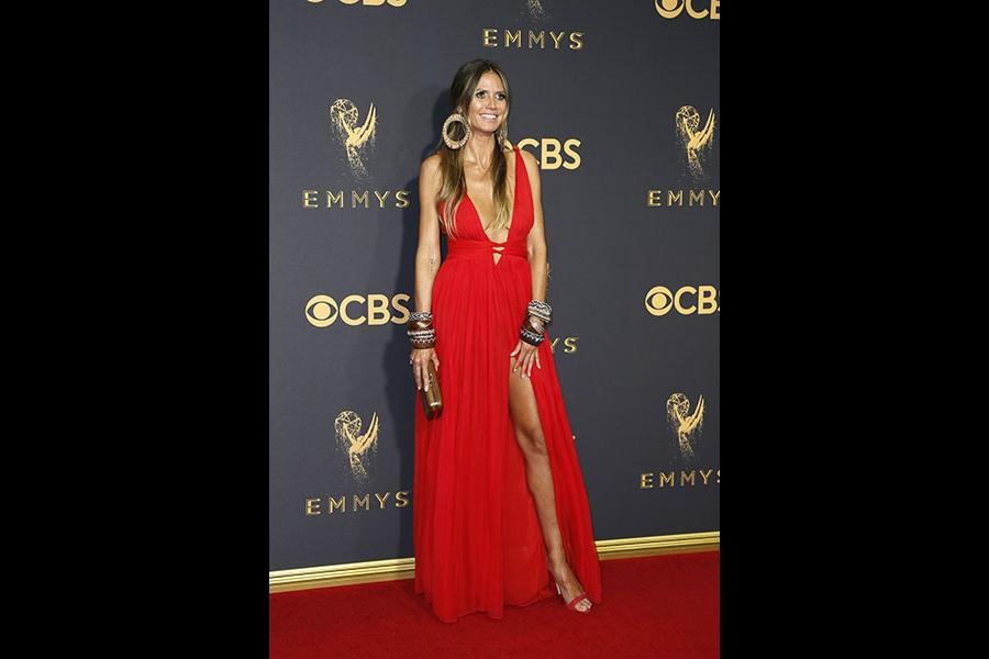 Heidi Klum on the red carpet at the 69th Primetime Emmy Awards