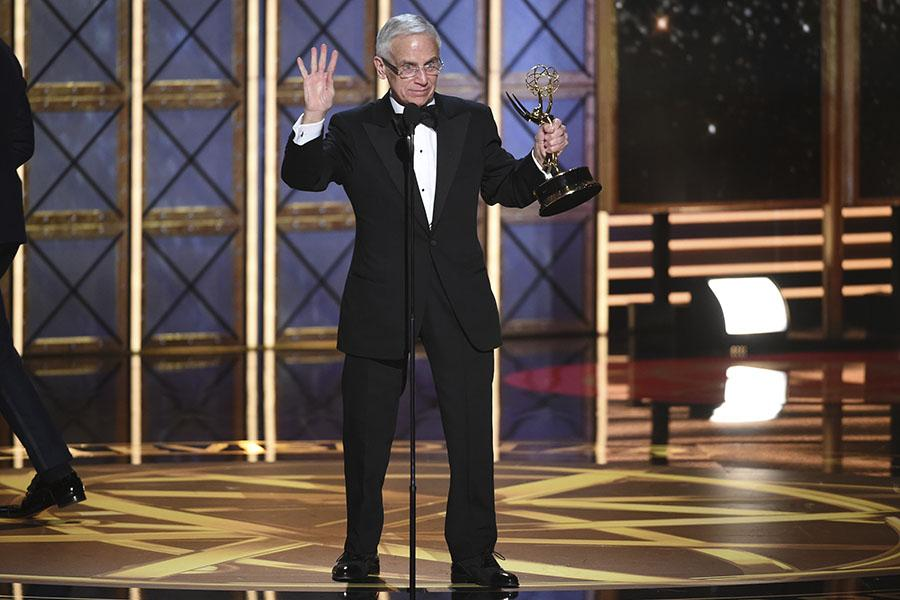 Don Roy King accepts his award at the 2017 Primetime Emmys.