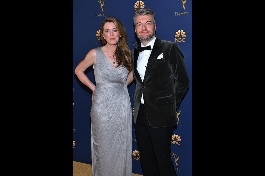 Annabel Jones and Charlie Brooker