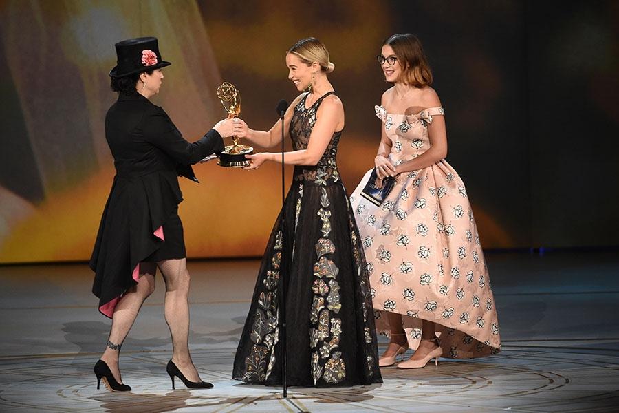 Millie Bobby Brown,  Emilia Clarke and Amy Sherman-Palladino