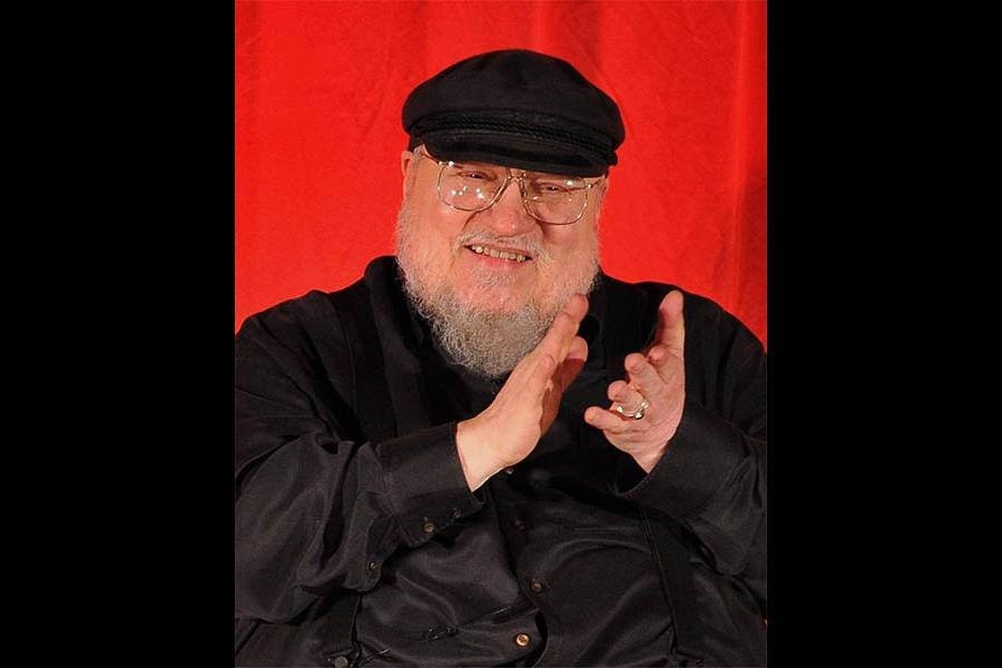 George R. R. Martin onstage at An Evening with Game of Thrones.