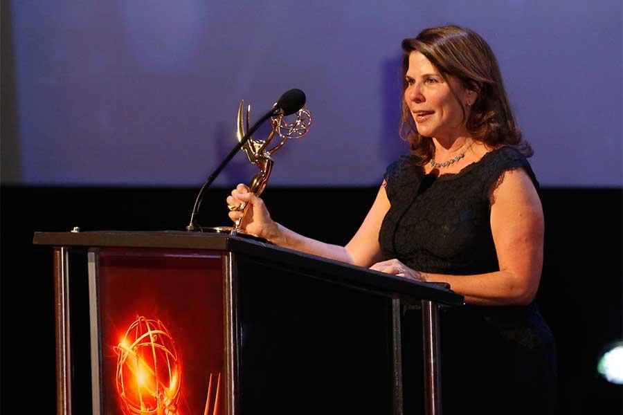 Gerri Shafter-Constant accepts an award at the 68th Los Angeles Area Emmys, July 23, 2016, at the Saban Media Center, North Hollywood, California.