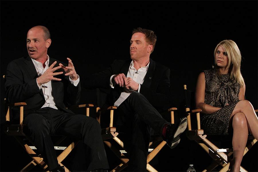 Howard Gordon, Damian Lewis and Claire Danes at An Evening with Homeland.
