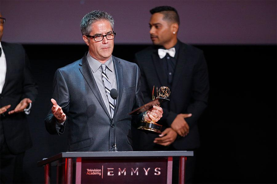 Greg Taylor at the L.A. Area Emmy Awards presented at the Television Academy's Wolf Theatre at the Saban Media Center on Saturday, July 22, 2017, in North Hollywood, California.