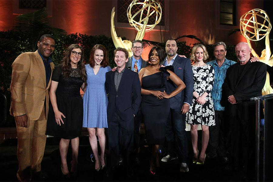 Primetime Emmy nominees onstage at the Performers Peer Group Celebration August 24 at the Montage in Beverly Hills, California.