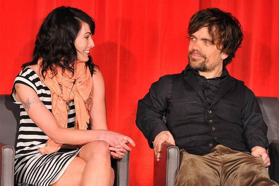 Lena Headey and Peter Dinklage onstage at An Evening with Game of Thrones.