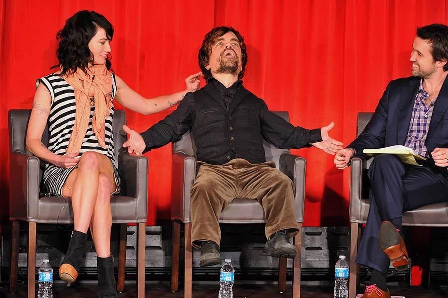 Lena Headey, Peter Dinklage and Rob McElhenney at An Evening with Game of Thrones.