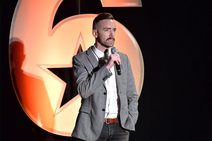 Henry Hughes speaks at the Got Your 6 Storytellers event, November 10, 2015, in Los Angeles, California.