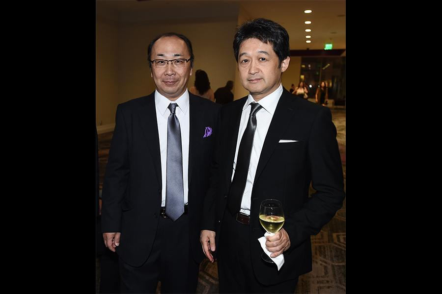 Hiroshi Kiriyama and Mikio Kita at the 69th Engineering Emmy Awards at the Loews Hollywood Hotel on Wednesday, October 25, 2017 in Hollywood, California.