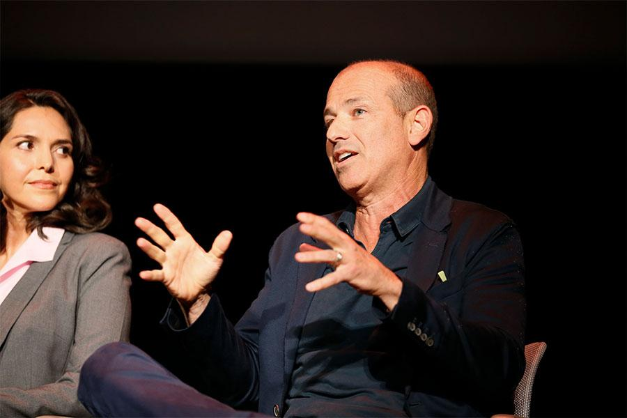 Howard Gordon speaks at Unlock Our Potential at the Television Academy's Saban Media Center, August 9, 2016.